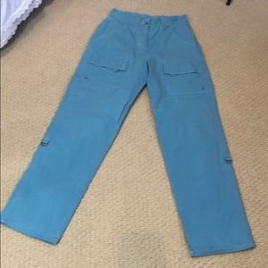 LL Bean vintage Turquoise cargo pants